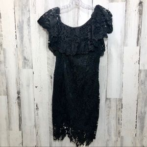 Luxe Apothetique Black Lace Dress Size Medium NWT